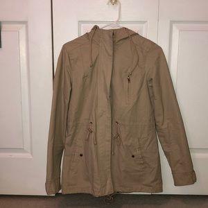 Tan Forever 21 utility jacket